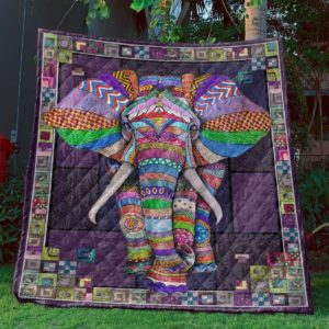 Elephant Purple Elephant Awesome Colorful Quilt Blanket Great Customized Gifts For Birthday Christmas Thanksgiving