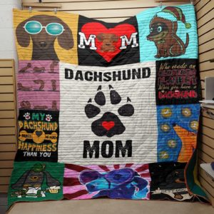 Dachshund Dog Drawing Mom Printfoot Dachshund Mom Quilt Blanket Great Customized Blanket Gifts For Birthday Christmas Thanksgiving Perfect Gift For Dachshund Lovers