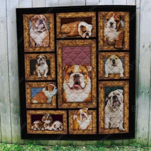Pug Dogs Emotions Quilt Blanket Great Customized Blanket Gifts For Birthday Christmas Thanksgiving