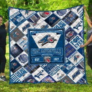 Asheville Bulldogs American University Basketball Team Quilt Blanket Great Customized Blanket Gifts For Birthday Christmas Thanksgiving