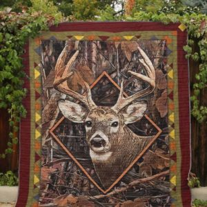 Deer Look At My Bucks Drawing In Diamond Frame Quilt Blanket Great Customized Blanket Gifts For Birthday Christmas Thanksgiving