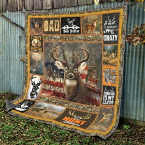 Deer Hunt Hunting Is My Cardio Bow Hunter Quilt Blanket Great Customized Blanket Gifts For Birthday Christmas Thanksgiving