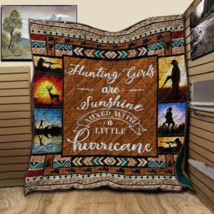 Deer Hunting Hunting Girls Are Sunshine Quilt Blanket Great Customized Blanket Gifts For Birthday Christmas Thanksgiving