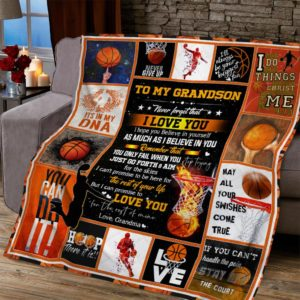 Personalized To My Grandson Never Give Up From Grandma Basketball Quilt Blanket Great Customized Blanket Gifts For Birthday Christmas Thanksgiving