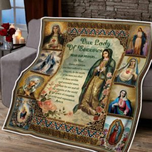 Our Lady Of Sorrows Mother Mary Quilt Blanket Great Customized Blanket Gifts For Birthday Christmas Thanksgiving
