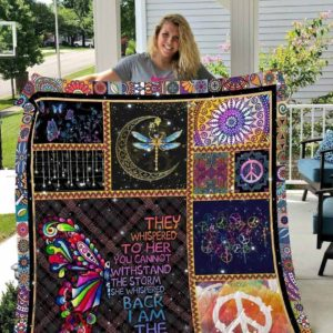Hippie Butterfly I Am The Storm Dragonfly Touching The Moon Quilt Blanket Great Customized Blanket Gifts For Birthday Christmas Thanksgiving