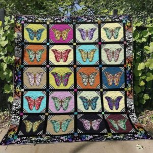Multicolor Butterfly Quilt Blanket Great Customized Blanket Gift For Birthday Christmas Thanksgiving Anniversary