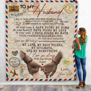 Personalized Letter To My Husband You Are My Everything From Wife Quilt Blanket Great Customized Blanket Gifts For Birthday Christmas Thanksgiving Anniversary