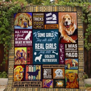 Golden Retriever Life Is Better With Golden Retriever  Quilt Blanket Great Customized Blanket Gifts For Birthday Christmas Thanksgiving Anniversary