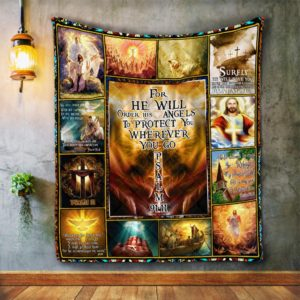 God Lord Jesus Christian Psalm 91 Quilt Blanket Great Customized Blanket Gifts For Birthday Christmas Thanksgiving
