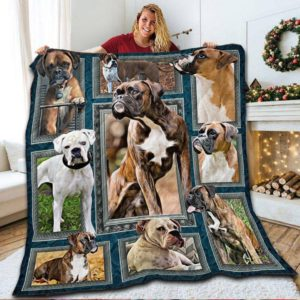 Boxer Beauty Nature Beautiful Dogs Quilt Blanket Great Customized Blanket Gifts For Birthday Christmas Thanksgiving