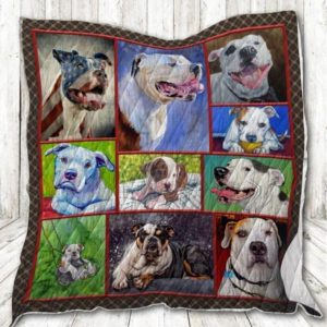 Pitbull Don't Touch My Pitbull Beautiful Quilt Blanket Great Customized Blanket Gifts For Birthday Christmas Thanksgiving