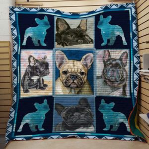 French Bulldog Quilt Blanket Great Customized Blanket Gifts For Birthday Christmas Thanksgiving Anniversary