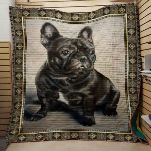 Black French Bulldog Quilt Blanket Great Customized Blanket Gifts For Birthday Christmas Thanksgiving Anniversary