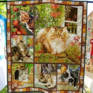 Lovely Cats Emotion Quilt Blanket Great Customized Blanket Gifts For Birthday Christmas Thanksgiving