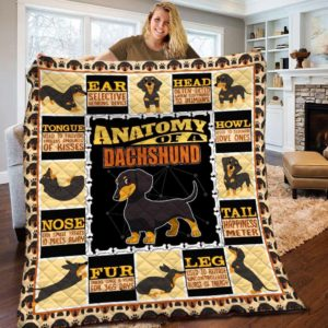 Dachshund Dog Drawing Anatomy Of A Dachshund Dogs Cartoon Dogs Quilt Blanket Great Customized Blanket Gifts For Birthday Christmas Thanksgiving