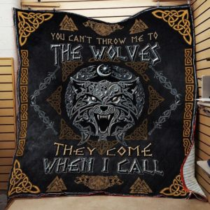 Viking Wolf Fenrir They Come When I Call Quilt Blanket Great Customized Blanket Gifts For Birthday Christmas Thanksgiving