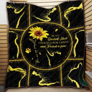 Black Cat Sunflower Starlight You Are My Sunshine Found Cat Paw Quilt Blanket Great Customized Blanket Gifts For Birthday Christmas Thanksgiving