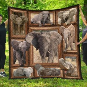 Elephant Baby Elephant Elephant With Big Tusk Quilt Blanket Great Customized Blanket Gifts For Birthday Christmas Thanksgiving