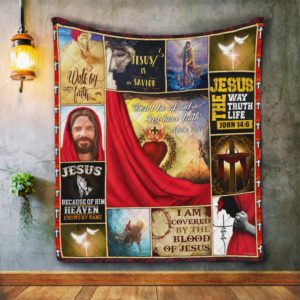 Don't Be Afraid Just Have Faith Jesus Christ My Savior Quilt Blanket Great Customized Blanket Gifts For Birthday Christmas Thanksgiving