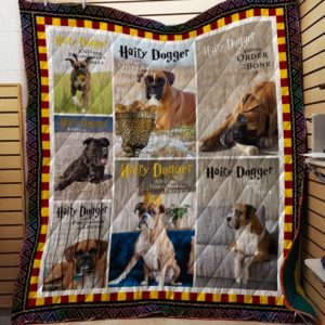 Boxer Dog Hairy Dogger Quilt Blanket Great Customized Blanket Gifts For Birthday Christmas Thanksgiving Anniversary