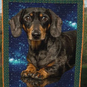 Dachshund My Universe At Home Galaxy Quilt Blanket Great Customized Blanket Gifts For Birthday Christmas Thanksgiving Anniversary
