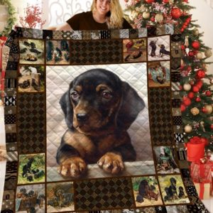 Dachshund In Heart Sad Face Tiny Quilt Blanket Great Customized Blanket Gifts For Birthday Christmas Thanksgiving Anniversary