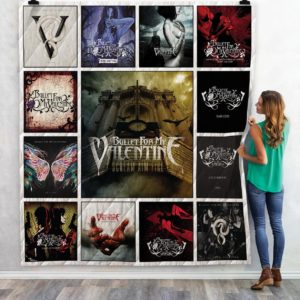 Bullet For My Valentine Albums Quilt Blanket Great Customized Blanket Gifts For Birthday Christmas Thanksgiving Anniversary