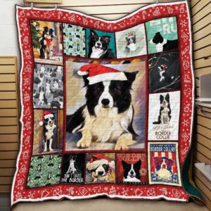 Border Collie Dogs Quilt Blanket Great Customized Blanket Gifts For Birthday Christmas Thanksgiving Anniversary