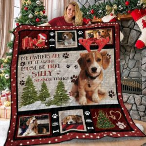Beagle And Christmas My Owners Are At It Again Quilt Blanket Great Customized Blanket Gifts For Birthday Christmas Thanksgiving Anniversary