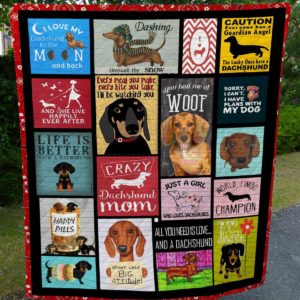 Dachshund World Limbo Champion You Had Me At Woof Quilt Blanket Great Customized Blanket Gifts For Birthday Christmas Thanksgiving
