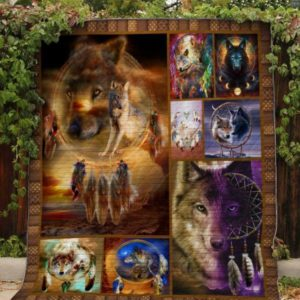 Wolf Dreamcatcher Quilt Blanket Great Customized Blanket Gifts For Birthday Christmas Thanksgiving Anniversary