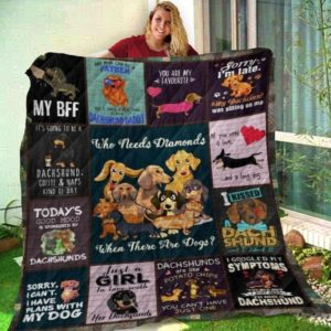 Dachshund Dog I Kissed Dachshund Quilt Blanket Great Customized Gifts For Birthday Christmas Thanksgiving Anniversary