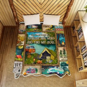 Camping Into The Forest I Go To Lose My Mind And Find My Soul Quilt Blanket Great Customized Blanket Gifts For Birthday Christmas Thanksgiving