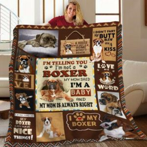 Boxer I Love My Boxer Quilt Blanket Great Customized Blanket Gifts For Birthday Christmas Thanksgiving