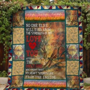 Dragonfly No One Else Will Ever Know The Strength Of My Love Quilt Blanket Great Customized Blanket Gifts For Birthday Christmas Thanksgiving Anniversary