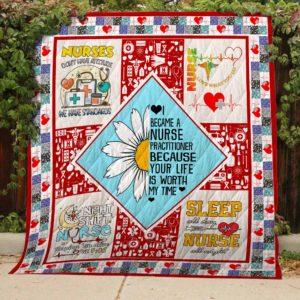 Nurse I Became Nurse Quilt Blanket Great Customized Blanket Gifts For Birthday Christmas Thanksgiving
