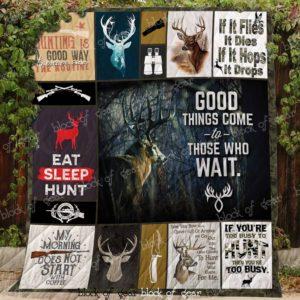Born To Hunt Quilt Blanket