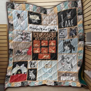 French Bulldog Security Quilt Blanket Great Customized Blanket Gifts For Birthday Christmas Thanksgiving Anniversary