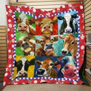 Lovely Cows Quilt Blanket Great Customized Blanket Gifts For Birthday Christmas Thanksgiving Anniversary