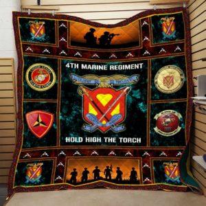 US Marine Corps 4th Marine Regiment Quilt Blanket Great Customized Blanket Gift For Anniversary