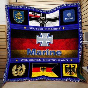 Deutsche Marine Quilt Blanket Great Customized Blanket Gift For Anniversary