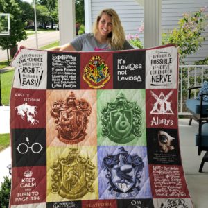 Harry Potter Quilt Blanket For Fans Ver 12