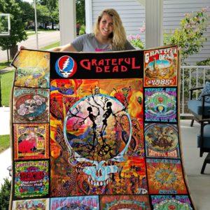 Grateful Dead Quilt Blanket Ver 12