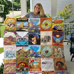 Grateful Dead Quilt Blanket Ver 13