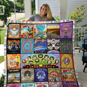 Grateful Dead Quilt Blanket Ver 15