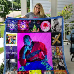 Chris Brown Style 2 Album Covers Quilt Blanket
