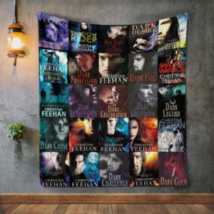 Christine Feehan Books Quilt Blanket