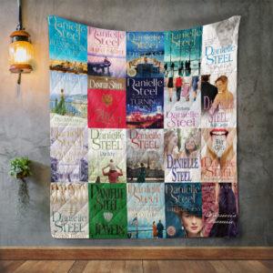 Danielle Steel Books Quilt Blanket
