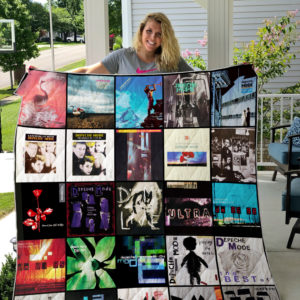 Depeche Mode Style 2 Album Covers Quilt Blanket